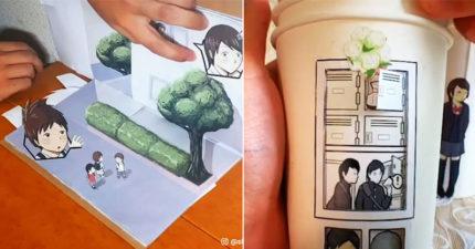 影/藝術家示範「拿在手裡的動畫」 超驚人玩法嚇壞網友:我受不了