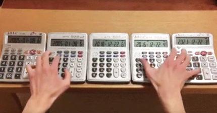 影/計算機神人再進化!用5台計算機演奏「莫札特名曲」
