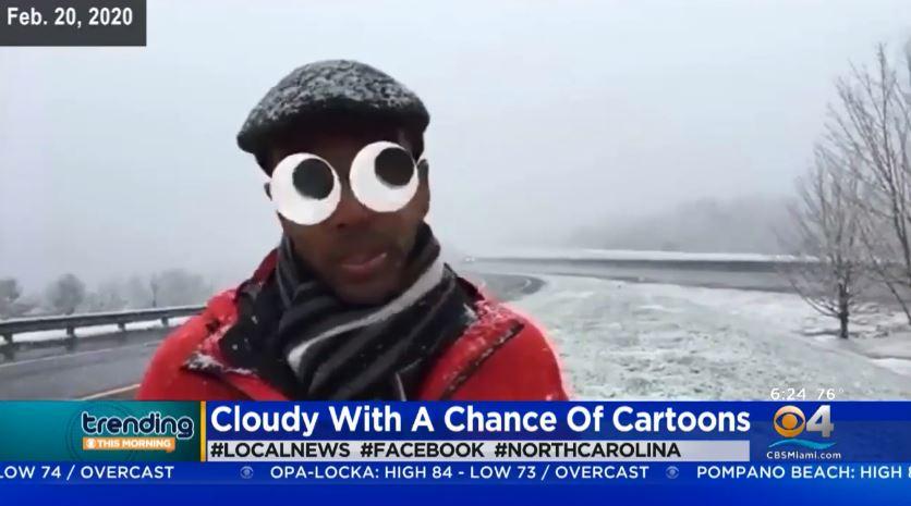 記者播報「超嚴肅氣候主題」不小心開到濾鏡 「狂換賣萌造型」全被網友備份