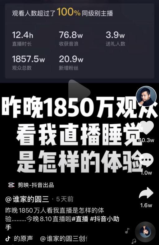 網紅「直播睡覺」千萬人準時看 睡一次「爽賺33萬」起來上廁所還被罵!