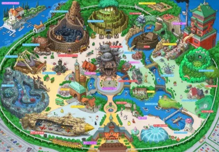 吉卜力樂園公佈最新概念圖 重現《神隱少女》「經典美食街」快來當千尋爸媽!