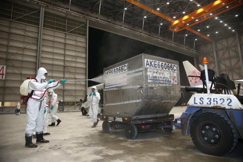 32位化學兵「徹夜消毒」鑽石公主號 行李「包膜消毒」14天後取回