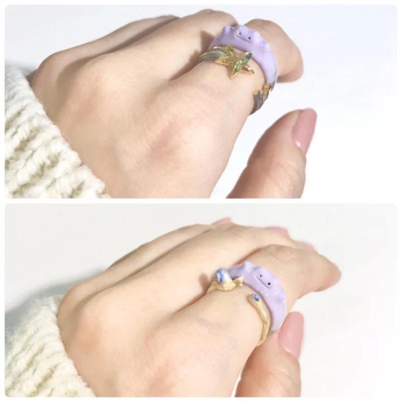 日推少女心噴發「百變怪戒指」!彈性弧度「夢幻粉紫」超欠買❤
