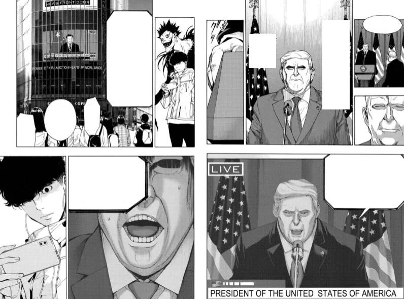 《死亡筆記本》新漫畫公開!川普「砸10兆美金買筆記本」網笑:是本人