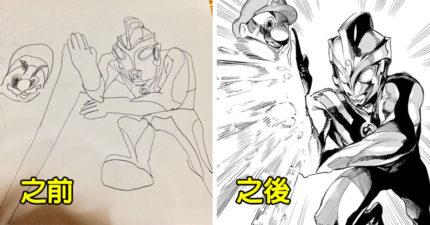 本來只會鬼畫符!他「苦練35年」成漫畫大師 隨手一畫就像是活的!
