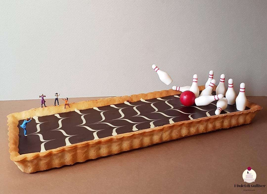 30個「以為是電影場景」的創意甜點 用蛋糕「打保齡球」超療癒!
