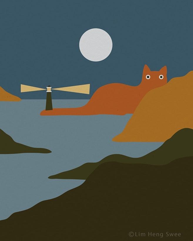 藝術家把「貓咪置入」在各大作品中 自由女神「火把→貓皇」萌翻全世界