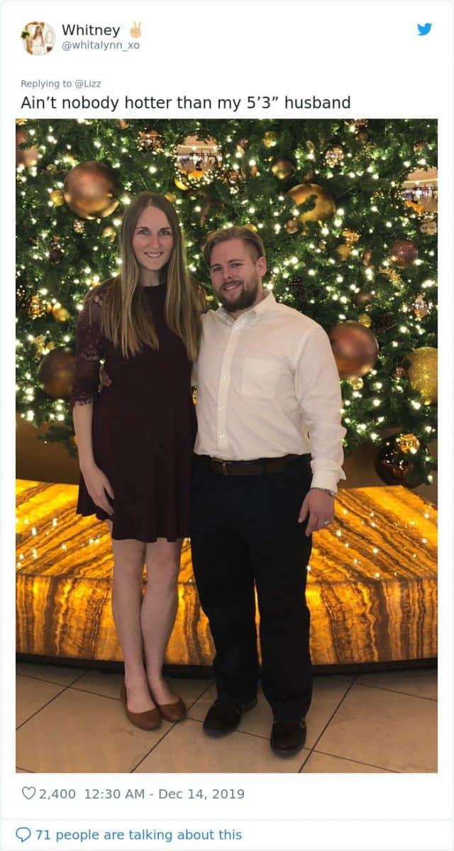 高個妹分享「矮男」才是最完美選擇:我老公拍照會「偷偷來」