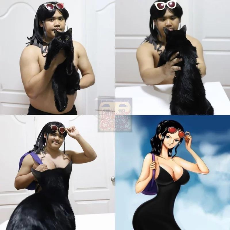 泰國「低成本Cos王子」推新作!挑戰用「活體當素材」羅賓黑裙太爆笑XD