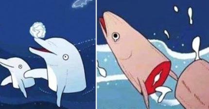 海豚其實超變態!拿魚頭當「快樂杯」不夠看 母海豚還會找烏龜...