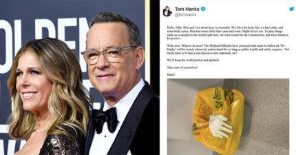 快訊/湯姆漢克斯「好萊塢首例」新冠肺炎 推特宣布:「夫妻皆陽性」!