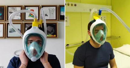 義大利工程師把「潛水用具→呼吸面罩」 用3D列印「解決物資短缺」被讚翻!