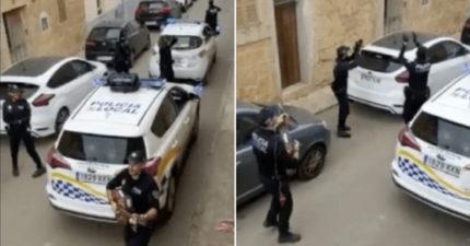 西班牙封城確診破3.9萬 警察開警車「巡迴演唱」鼓勵市民!
