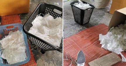 黑心商家把「用過的口罩」轉賣賺錢 「清洗+燙平」就變全新商品!