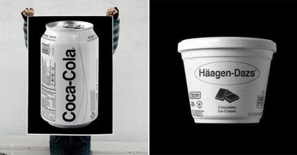 藝術家「黑白質感化」各大品牌包裝 不是紅色的「肯德基」馬上變難吃!
