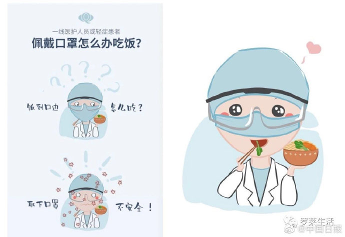 武漢醫生發明「鼻罩」稱醫護「吃飯時戴」可防疫 慘被網友砲轟:病毒不認識嘴巴?