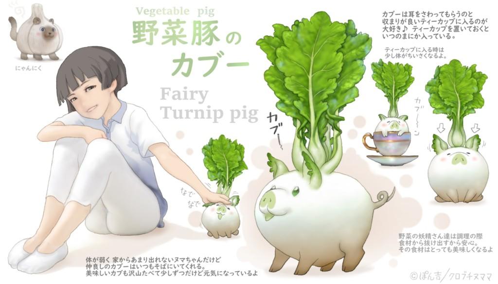 13張「動物→蔬果妖精」的超萌插畫 「青椒肥貓」萌到讓你不挑食!