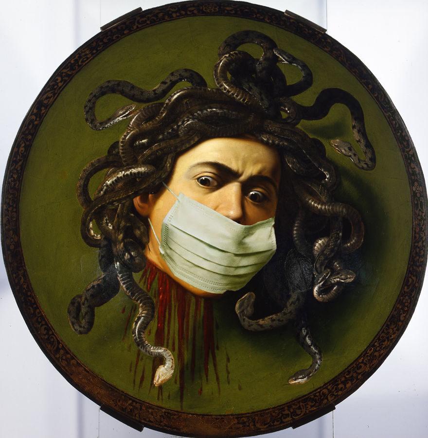 37張如果是「在武肺時期畫的」世界名畫 梵谷「口罩完全沒掉」有BUG!