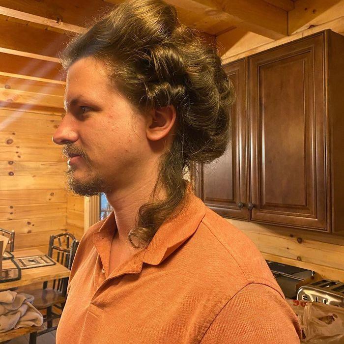 隔離太無聊!男子「出借長髮」讓理髮師女友練習 竟成功變「莉亞公主」
