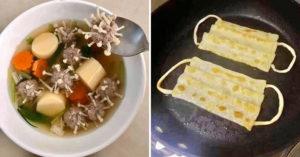 網友做出肺炎「黑暗創意料理」 只需要「金針菇+肉丸」就能仿造病毒!