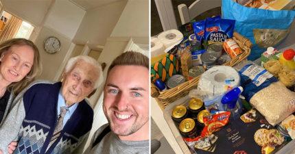 暖心店員看到「99歲爺爺搶不到物資」 熱血「幫他圓夢」送上更多禮物!
