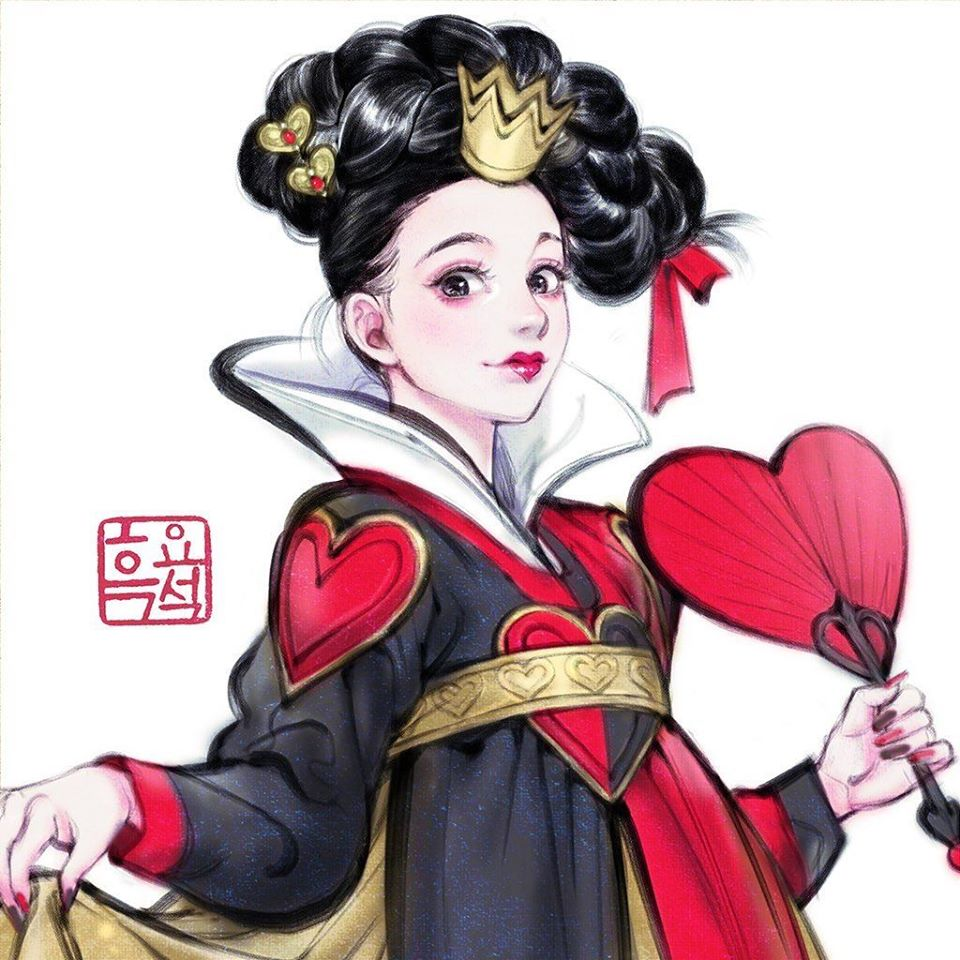 23個迪士尼角色「穿上傳統韓服」的超美插畫 壞皇后比公主還美❤