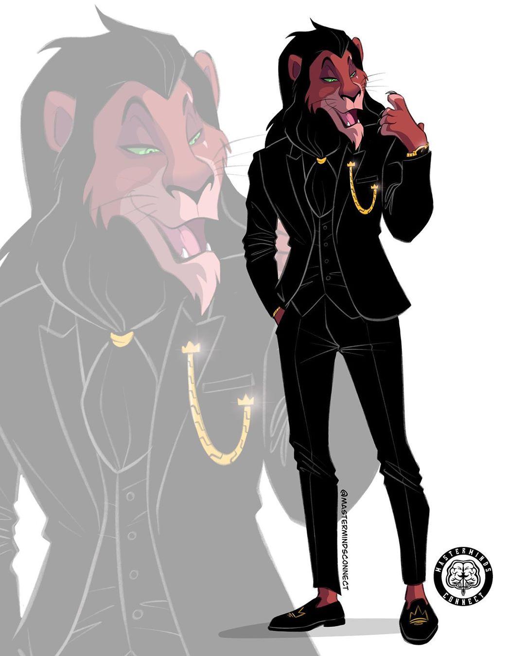 藝術家擬人化《獅子王》角色太傳神 木法沙有「水行俠壯肌」比辛巴還帥!