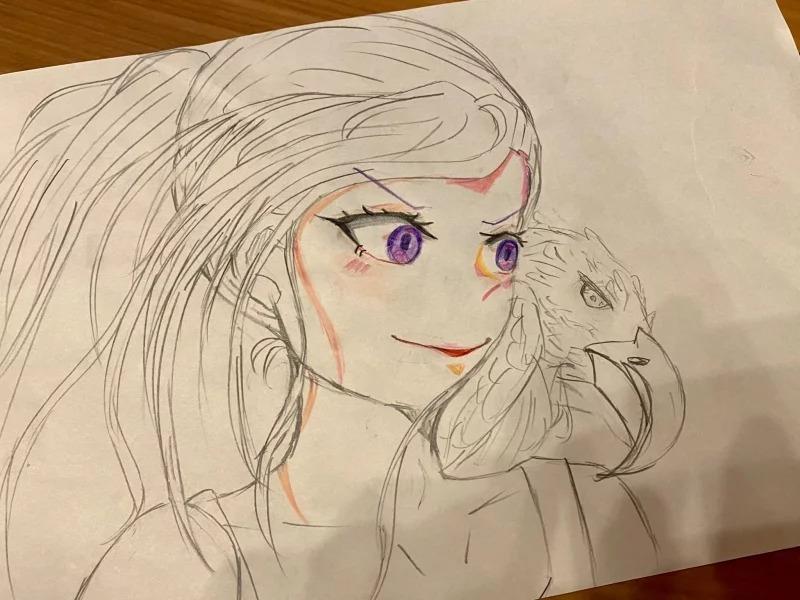 《一拳超人》畫師PO出「10歲女兒隨手畫」網嚇呆:基因太恐怖...