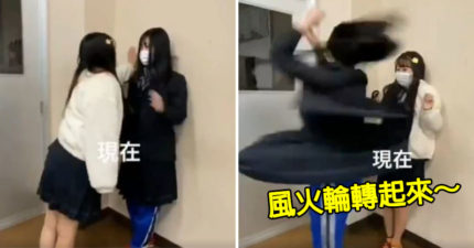 影/學生妹示範「戰鬥陀螺壁咚」太霸氣 網笑翻:忍不住重看20次!
