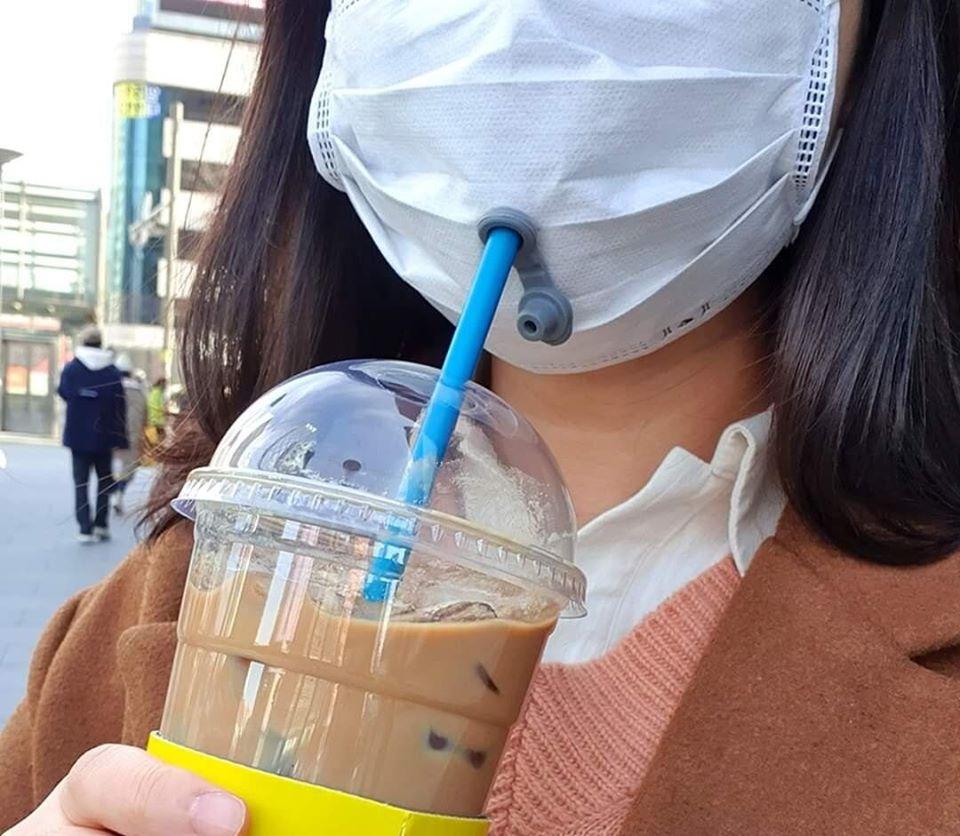 韓國爆紅「吸管口罩」被熱搜 背後發明者竟是 「東方神起」!