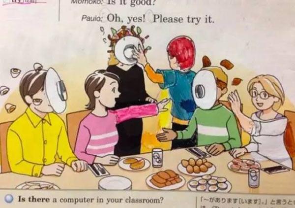 日本學生「超獵奇課本塗鴉」 CPR救援畫面...竟變成恐怖儀式!
