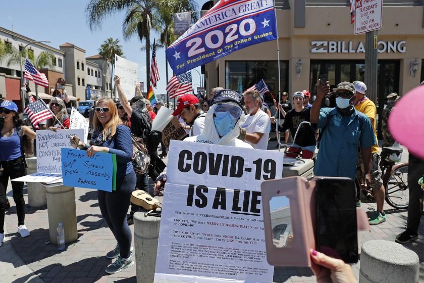 美上百人「抗議不自由」要求開放居家隔離 川普:我支持!