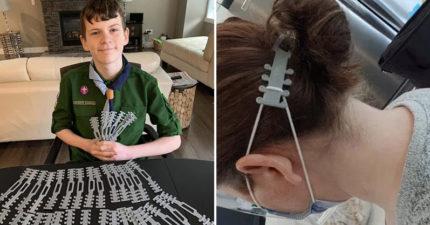 小天才3D列印發明「護耳神器」為了減輕「醫護人員的疼痛」!