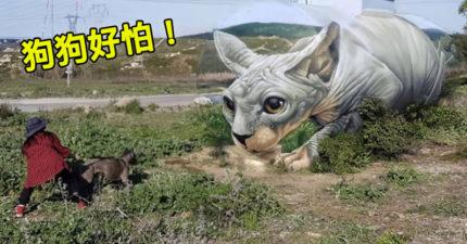 他習得「百年前藝術絕技」打造狗狗都想攻擊的3D巨貓!