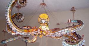 想當小美人魚?超精緻「水晶章魚吊燈」一秒變身亞特蘭提斯!
