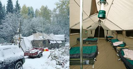 國外推「帳篷界小公寓」史上最大帳 「一頂9坪」全家都可睡