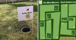 防疫激發創意!男子把後花園變「私人高爾夫球場」:之後可以辦球賽!