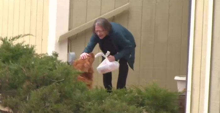 鄰居自主隔離「暖汪每天送物資」還提供摸肚肚服務!