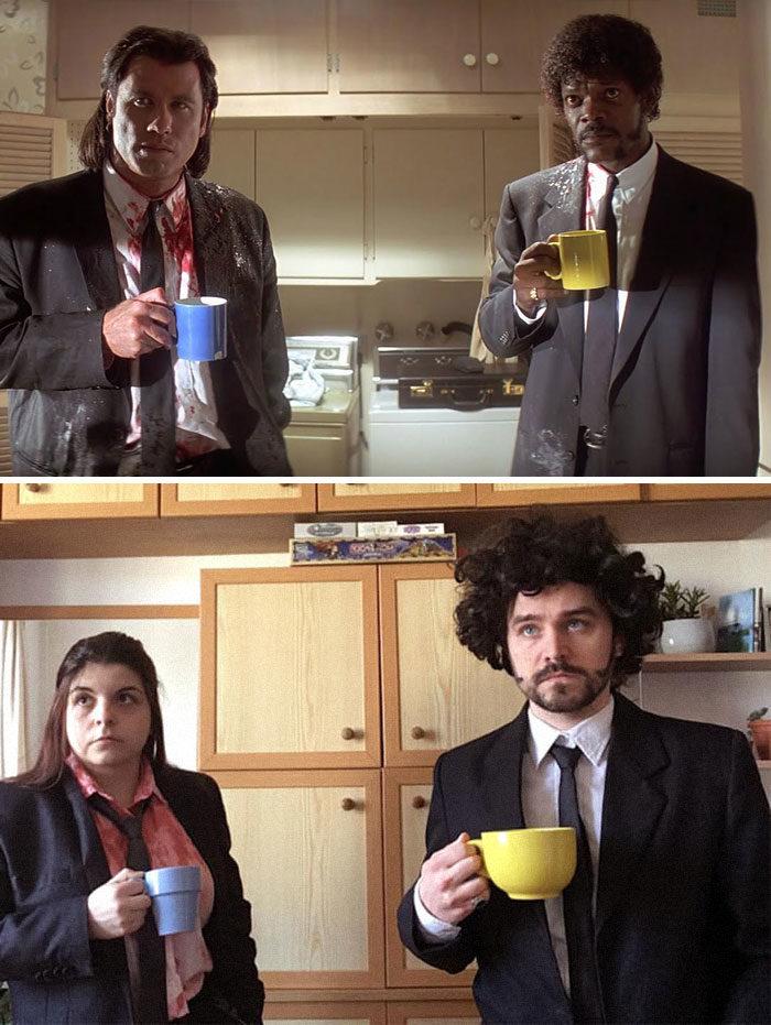 夫妻「低成本還原」經典電影 「一條熱狗」把《鬼店》變喜劇!