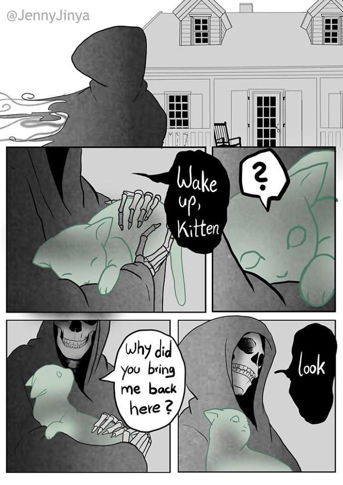 「死神啊,可以讓我見她最後一面嗎?」超催淚漫畫《死神與黑貓》結局