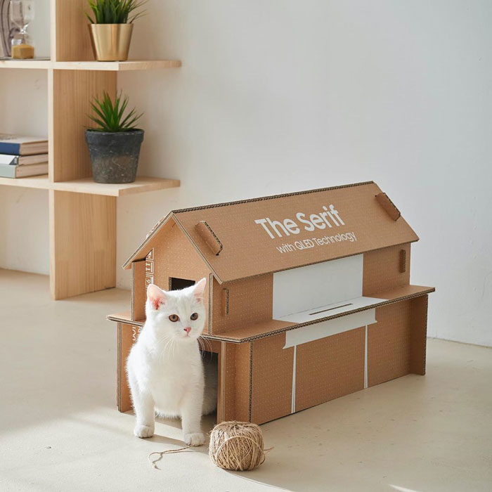 三星的電視紙箱「可變成貓屋別墅」 還可變另外3種好物