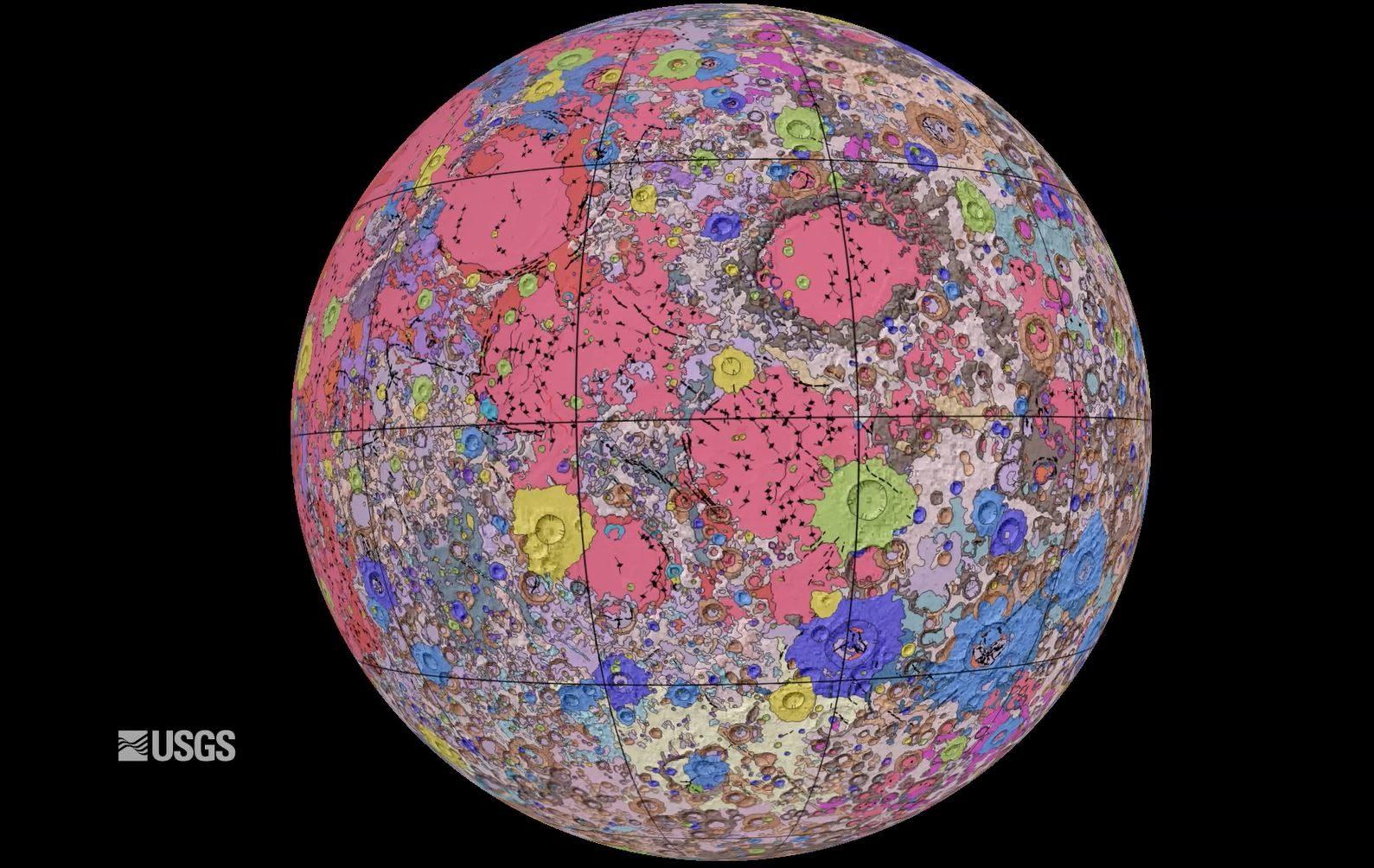 首張「月球地圖」佈滿彩色寶石!有從地球看不到的「美麗東方海」