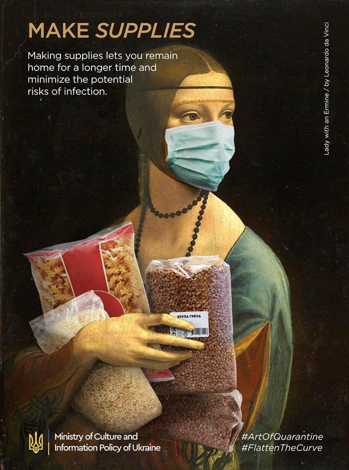 烏克蘭政府把「世界名畫→防疫文宣」 《最後的晚餐》太真實!