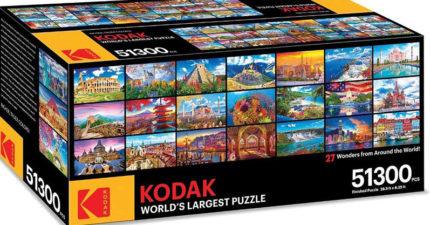 世界上最大拼圖!柯達推出「5萬片拼圖」結合27張奇蹟美照