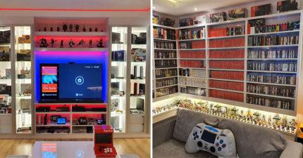 狂粉打造「最猛電動房」 任天堂「40年歷史」全在他櫃裡!
