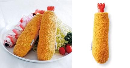 超仿真「炸蝦摺疊傘」撐傘就餓了 手把還是蝦子尾巴!