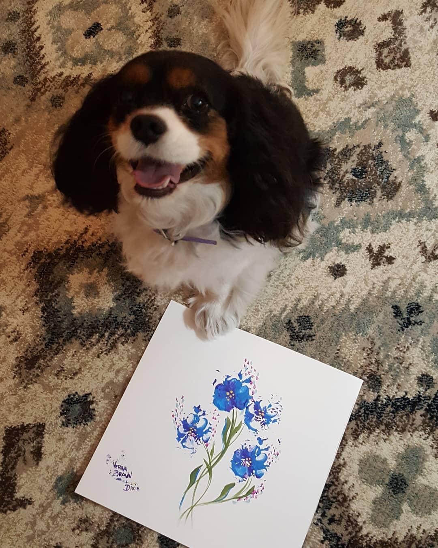 隔離發現毛孩「根本是畢卡索」 用「靈魂肉球」當畫筆剛好!