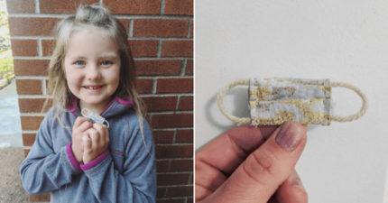 小女孩「送迷你口罩」給牙仙 隔天收到牙仙「超心機」回信