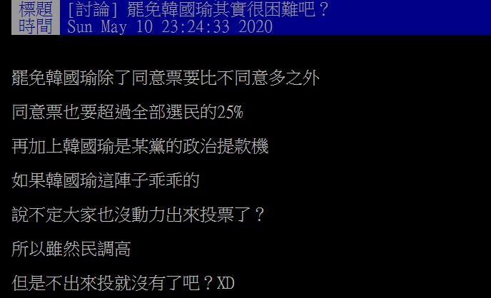 挺韓名嘴也看衰韓國瑜「高雄罷免一定過」:被豬隊友陷害
