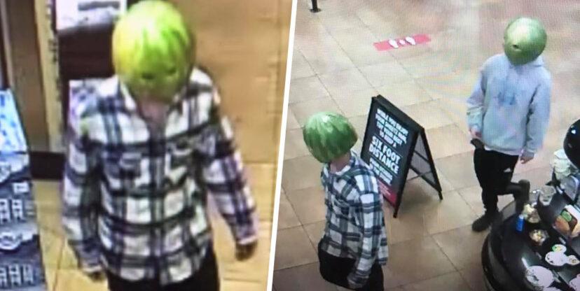 店家遭小偷調監視器「發現西瓜人」 警察傻眼:雕工超精細